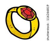 cartoon ruby ring | Shutterstock .eps vector #116266819