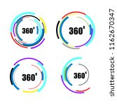 360 degrees icons set isolated... | Shutterstock .eps vector #1162670347