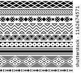 ethnic boho tribal indian... | Shutterstock .eps vector #1162674571