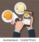 mobile photography concept. man ... | Shutterstock .eps vector #1162679161