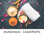 ayurvedic face pack mask using... | Shutterstock . vector #1162690291