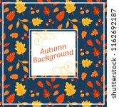 autumn fall background | Shutterstock .eps vector #1162692187
