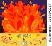 autumn fall background | Shutterstock .eps vector #1162692214