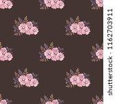 seamless vector ornamental... | Shutterstock .eps vector #1162703911