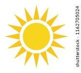 yellow sun simple sign  flat... | Shutterstock .eps vector #1162705024
