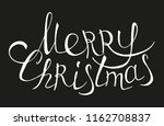 merry christmas poster with... | Shutterstock .eps vector #1162708837