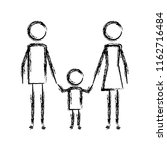 parents couple with son figures | Shutterstock .eps vector #1162716484