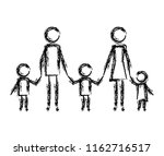 parents couple with kids figures | Shutterstock .eps vector #1162716517