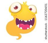 orange cartoon monster.... | Shutterstock .eps vector #1162720651