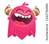 flying catoon monster. pink... | Shutterstock .eps vector #1162720684