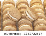 close up of macaroons in box | Shutterstock . vector #1162722517