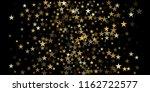 gold glitter stars background ... | Shutterstock .eps vector #1162722577