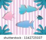 paper art undersea | Shutterstock .eps vector #1162725337