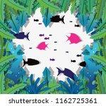 paper art undersea   Shutterstock .eps vector #1162725361
