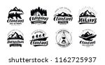 camping  climbing logo or label.... | Shutterstock .eps vector #1162725937