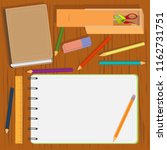 design set of realistic colored ... | Shutterstock .eps vector #1162731751