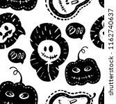 halloween seamless pattern with ... | Shutterstock .eps vector #1162740637
