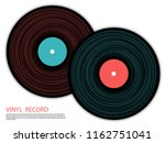 vinyl records isolated vector... | Shutterstock .eps vector #1162751041