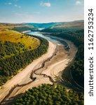 howden reservoir in the peak...   Shutterstock . vector #1162753234