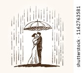 a woman in a dress and a man in ...   Shutterstock .eps vector #1162763581