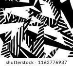 white and black grunge pattern. ... | Shutterstock .eps vector #1162776937