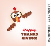 happy thanksgiving card design | Shutterstock .eps vector #1162780594
