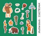 cave people elements. vector... | Shutterstock .eps vector #1162781464