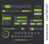 interface green black set