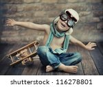 a small boy playing | Shutterstock . vector #116278801