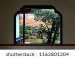 view of autumn maple trees in a ... | Shutterstock . vector #1162801204