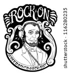 rock on crest image | Shutterstock . vector #116280235
