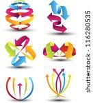 abstract arrow icon set | Shutterstock .eps vector #116280535