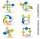 Abstract Arrow Icon Set