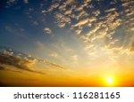 Stock photo sky background on sunrise nature composition 116281165