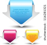 arrow tag label | Shutterstock .eps vector #116281321
