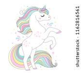unicorn vector cute character....   Shutterstock .eps vector #1162816561