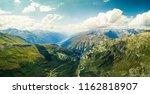 the furka pass with an... | Shutterstock . vector #1162818907
