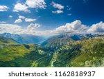 the furka pass with an... | Shutterstock . vector #1162818937