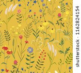 seamless pattern with simple... | Shutterstock .eps vector #1162824154