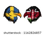 sweden vs kenya | Shutterstock . vector #1162826857