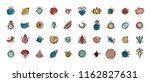 food vector set. doodle fruits  ...   Shutterstock .eps vector #1162827631