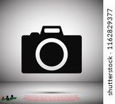 photo camera icon  stock vector ... | Shutterstock .eps vector #1162829377