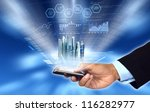 businessman accessing and... | Shutterstock . vector #116282977