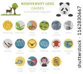global environmental problems.... | Shutterstock .eps vector #1162830667