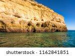 algarve seashore and caves.... | Shutterstock . vector #1162841851
