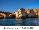 algarve seashore and caves.... | Shutterstock . vector #1162841881