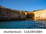 algarve seashore and caves.... | Shutterstock . vector #1162841884