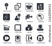 set of 16 icons such as blocked ...