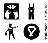 set of 4 vector icons such as... | Shutterstock .eps vector #1162853164