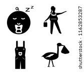 set of 4 vector icons such as... | Shutterstock .eps vector #1162853287